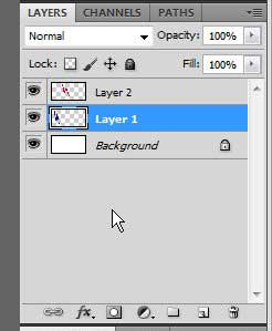 click the first layer you want to link