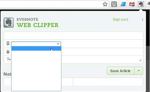 how to use the evernote web clipper in google chrome