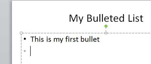 how to add bullets in powerpoint