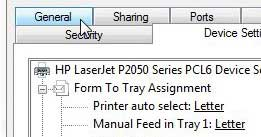 laserjet 2055 general tab