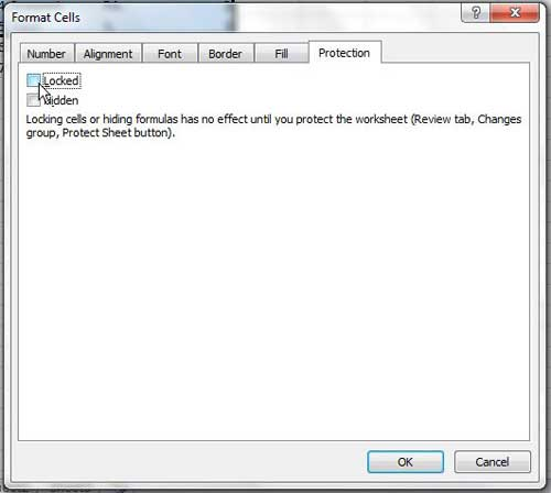 how to lock a cell in excel 2010
