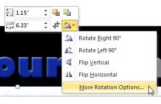 how to rotate an image in powerpoint 2010