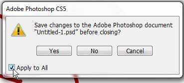 how to save all open images in photoshop cs5