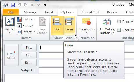 How to Display the From Field in Outlook 2010 - Solve Your Tech