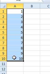select the cells to average in excel 2010