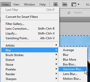 how to blur the sides of an image in photoshop cs5
