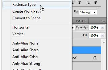 how to convert a text layer to an image in photoshop cs5