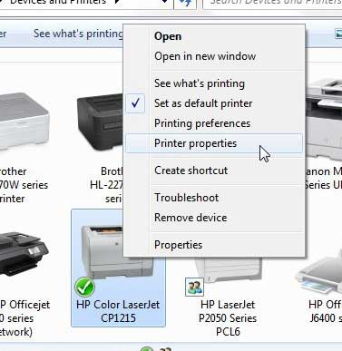 hp cp1215 printer properties