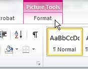 word 2010 picture tools format tab