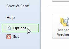excel 2010 options menu