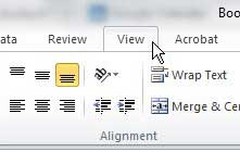 excel 2010 change views
