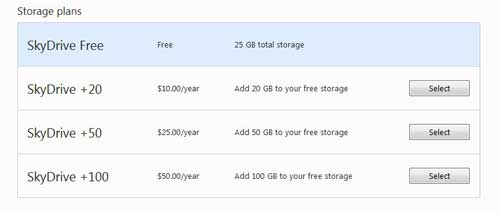 how to get more skydrive storage