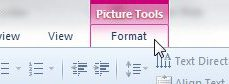 powerpoint 2010 picture tools format tab