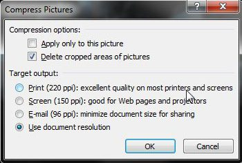 how to compress pictures in powerpoint 2010