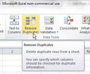 how to remove duplicates in excel 2010