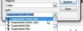 how to change all instances of a font in powerpoint 2010