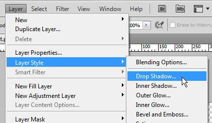 how to add a drop shadow in photoshop cs5