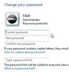 how to change a windows 7 password