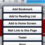 how to create a bookmark in safari on the ipad