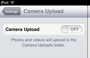automatically upload ipad pictures to dropbox