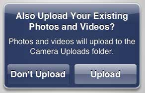 upload or don't upload existing pictures
