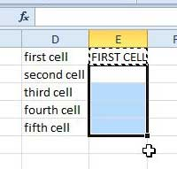 paste function into cells