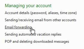 email forwarding in hotmail