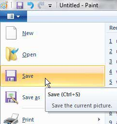 save screen shot as an image file