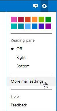 outlook more mail settings