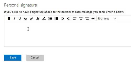 how to create a signature for your outlook.com email address