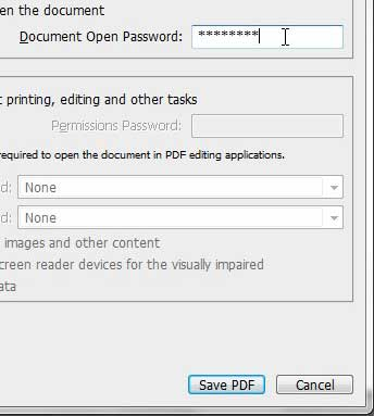 pdf is protected please enter a document open password