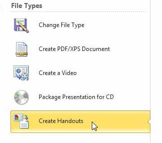 how to save powerpoint file as word doc