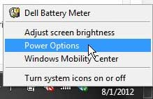 right-click battery icon