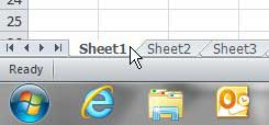 select excel sheet