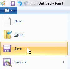 save in paint
