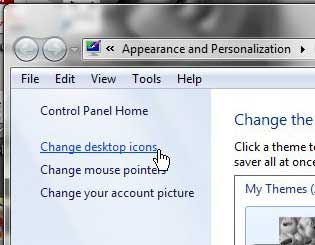 windows 7 change desktop icons