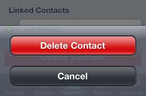 how to delete a contact on the iphone 5