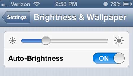 how to lower screen brightness on iphone 5