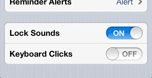 how to turn off keyboard clicks on the iphone 5