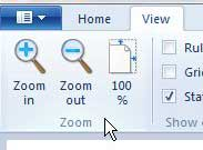 how to zoom in on microsoft paint