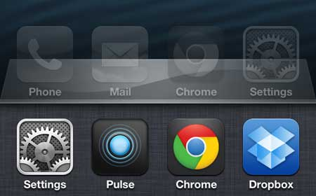view recently open apps on the iphone 5