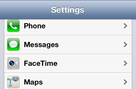 iphone 5 facetime menu