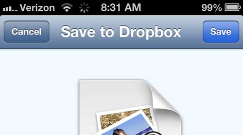 how to save a picture message to dropbox on the iphone 5