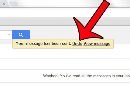 the Gmail email recall feature in action
