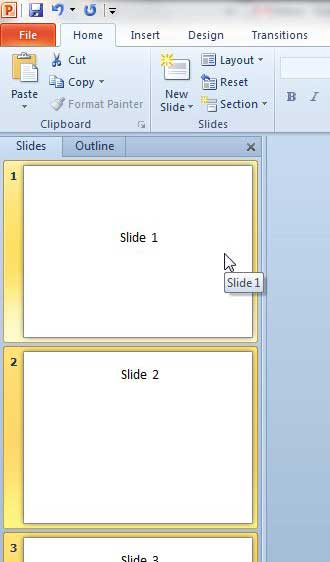 select all of the presentation slides