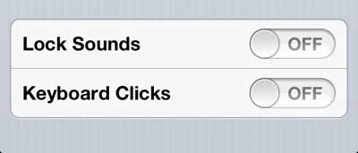 how to turn off iphone 5 lock and unlock sounds