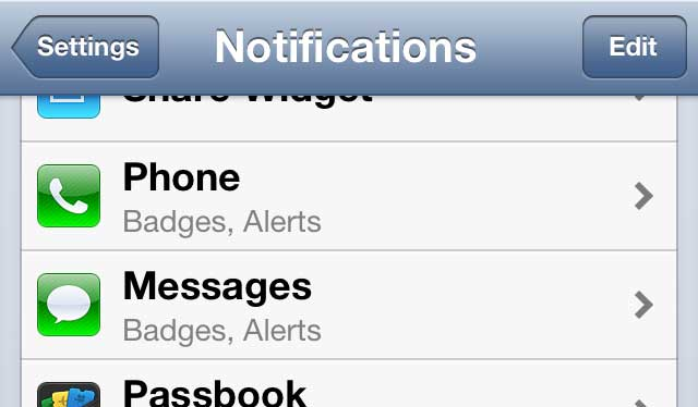 iphone 5 message notification options