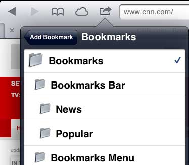 save to the bookmarks bar folder