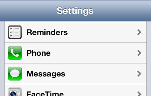 open iphone 5 message settings