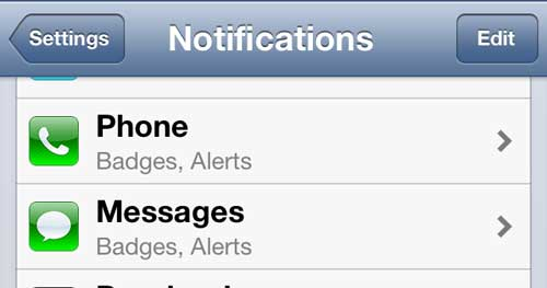 iphone 5 messages menu